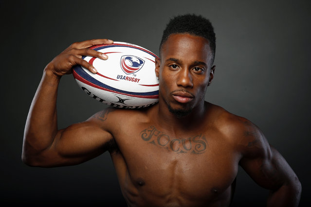 Rugby player Carlin Isles poses for a portrait at the U.S. Olympic Committee Media Summit in Beverly Hills, Los Angeles, California March 7, 2016. (Photo by Lucy Nicholson/Reuters)