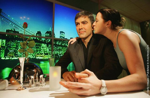 Actor George Clooney's waxwork model