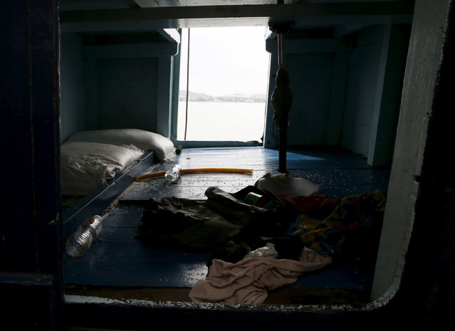 A compartment on a boat that carried Rohingya migrants for three months is seen at Langkawi island, in Malaysia's northern state of Kedah May 12, 2015. (Photo by Olivia Harris/Reuters)