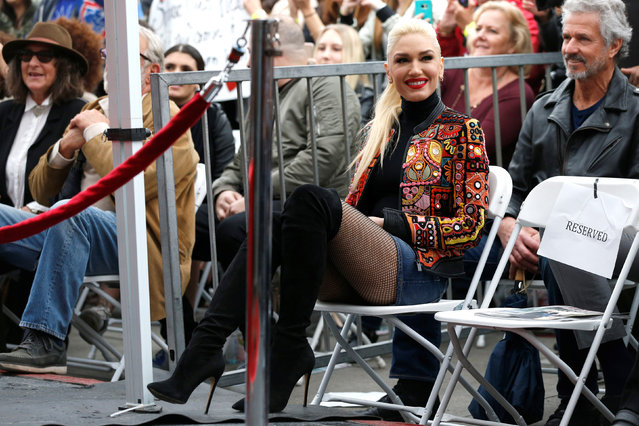 Singer Gwen Stefani attends the ceremony for the unveiling of the star for musician Adam Levine on the Hollywood Walk of Fame in the Hollywood neighborhood of Los Angeles, California U.S., February 10, 2017. (Photo by Mario Anzuoni/Reuters)