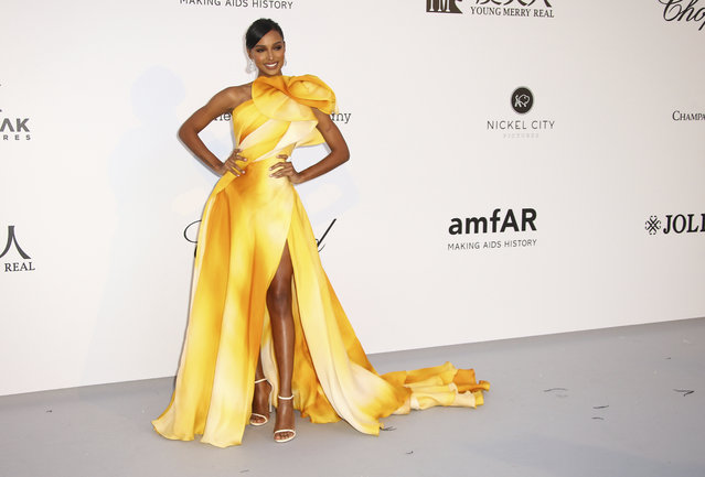 Model Jasmine Tookes poses for photographers upon arrival at the amfAR, Cinema Against AIDS, benefit at the Hotel du Cap-Eden-Roc, during the 72nd international Cannes film festival, in Cap d'Antibes, southern France, Thursday, May 23, 2019. (Photo by Joel C. Ryan/Invision/AP Photo)