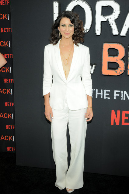 "Beth Dover attends the ""Orange Is The New Black"" Final Season Premiere in New York on July 25, 2019. (Photo by Efren Landaos/SOPA Images/LightRocket via Getty Images)"