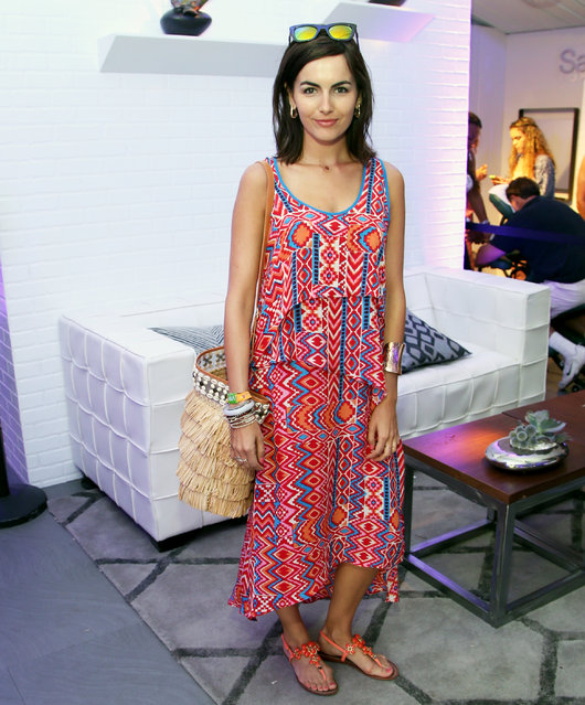 Actress Camilla Belle at Samsung Galaxy Owners Lounge at Coachella Valley Music and Arts Festival 2014 on April 12, 2014 in Indio, California. (Photo by Jonathan Leibson/Getty Images for Samsung)