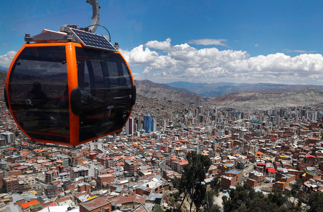 A general view from the Teleferico cable car shows the city of La Paz, Bolivia on October 31, 2019. (Photo by Kai Pfaffenbach/Reuters)