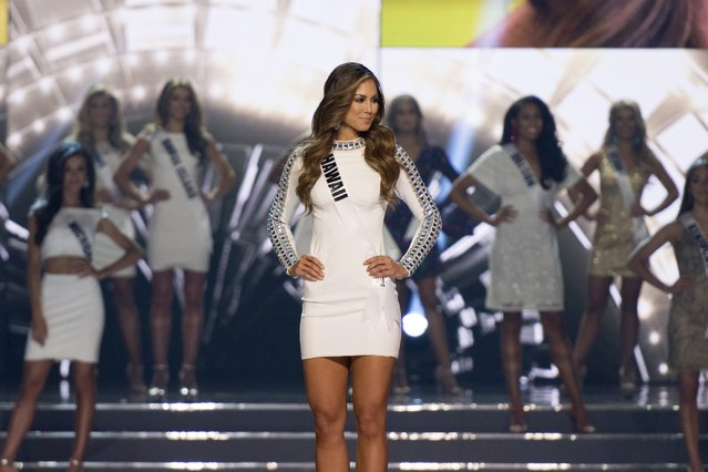 Miss Hawaii Chelsea Hardin competes in the 2016 Miss USA pageant in Las Vegas, Sunday, June 5, 2016. (Photo by Jason Ogulnik/Las Vegas Review-Journal via AP Photo)