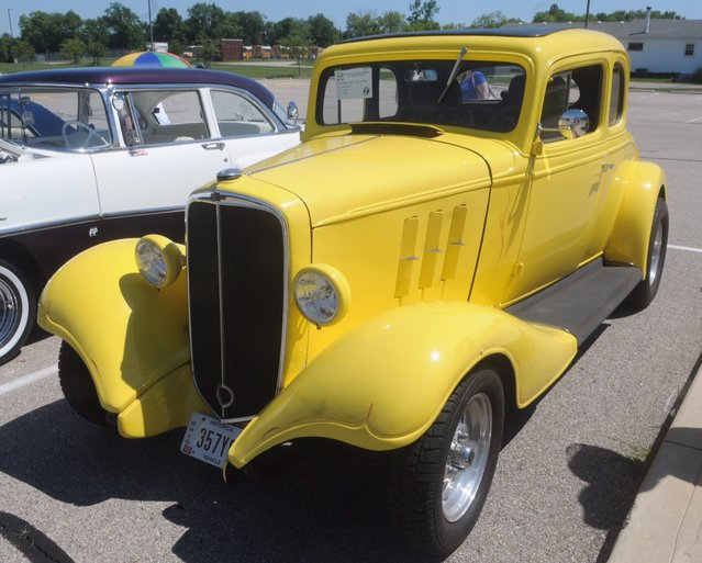 This 1933 Chevy was one of over 150 cars at the eighth annual historic U.S Route 40 Mini-Nationals car show held on Sunday at Tecumseh high school. (Photo by Marshall Gorby/AP Photo)
