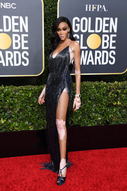 Winnie Harlow attends the 77th Annual Golden Globe Awards at The Beverly Hilton Hotel on January 05, 2020 in Beverly Hills, California. (Photo by Jon Kopaloff/Getty Images)