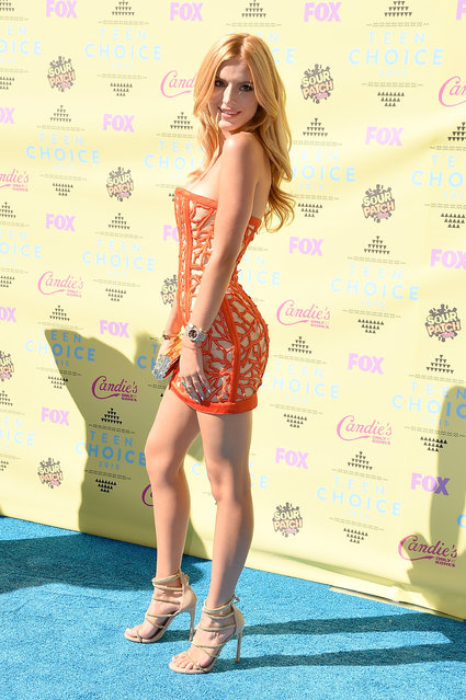 Actress Bella Thorne attends the Teen Choice Awards 2015 at the USC Galen Center on August 16, 2015 in Los Angeles, California. (Photo by Steve Granitz/WireImage)