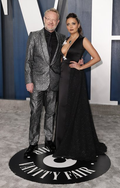 Jared Harris and Allegra Riggio attend the Vanity Fair Oscar party in Beverly Hills during the 92nd Academy Awards, in Los Angeles, California, U.S., February 9, 2020. (Photo by Danny Moloshok/Reuters)