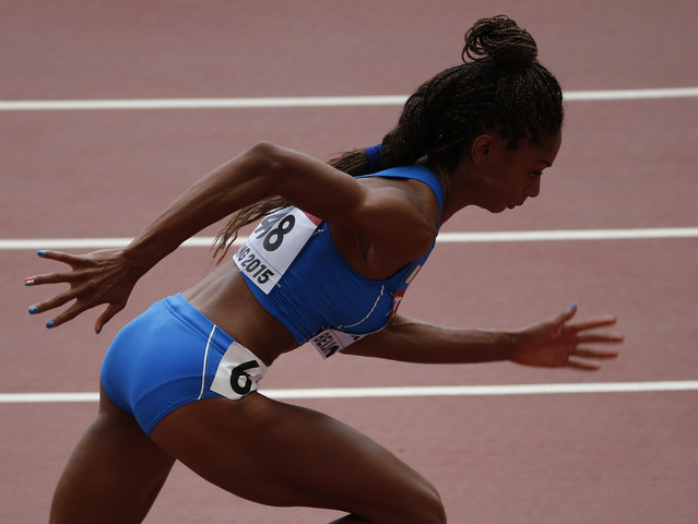 Mariabenedicta Chigbolu of Italy at the start during the women's 400 metres heats during the 15th IAAF World Championships at the National Stadium in Beijing, China August 24, 2015. (Photo by David Gray/Reuters)
