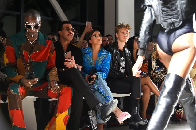 (L-R)  Young Paris, Lionel Richie, Isabela Moner and Austin Butler attend the Jeremy Scott Fashion Show during New York Fashion Week at Spring Studios on September 8, 2017 in New York City. (Photo by Ben Gabbe/Getty Images)