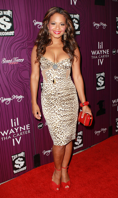 LOS ANGELES, CA - AUGUST 28:  Recording artist Christina Milian attends Cash Money Records' Lil Wayne album release party for Tha Carter IV at Boulevard3 on August 28, 2011 in Los Angeles, California.  (Photo by David Livingston)
