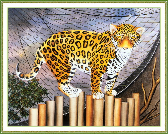 The Jaguar. Artwork by Beryl Cook