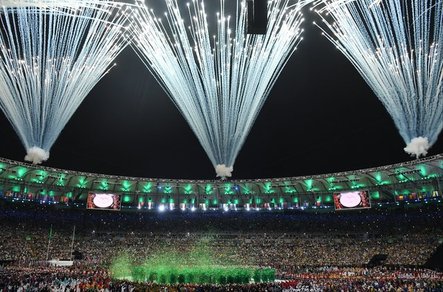 Opening ceremonies of the 2016 Olympic Games on August 5, 2016 in Rio De Janeiro, Brazil. (Photo by Jonathan Newton/The Washington Post)
