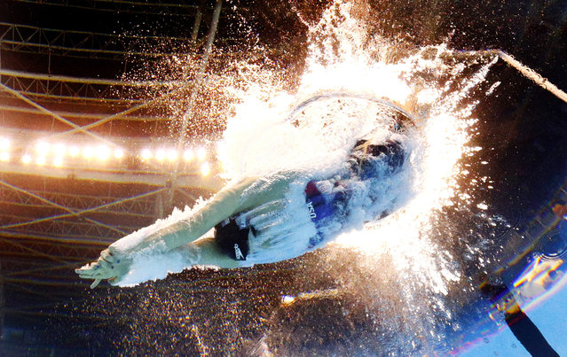 United States' Katie Ledecky competes in a semifinal of the women's 200-meter freestyle during the swimming competitions at the 2016 Summer Olympics in Rio de Janeiro, Brazil, Monday, August 8, 2016. (Photo by David J. Phillip/AP Photo)