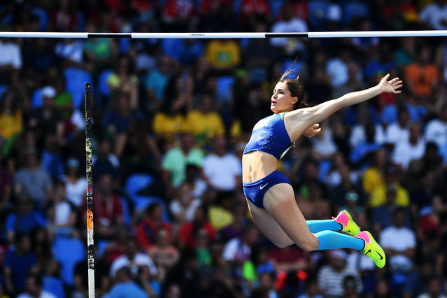 Maryna Kylypko of Ukraine competes during the Women's Pole Vault Qualifying Round - Group A on Day 11 of the Rio 2016 Olympic Games at the Olympic Stadium on August 16, 2016 in Rio de Janeiro, Brazil. (Photo by Shaun Botterill/Getty Images)