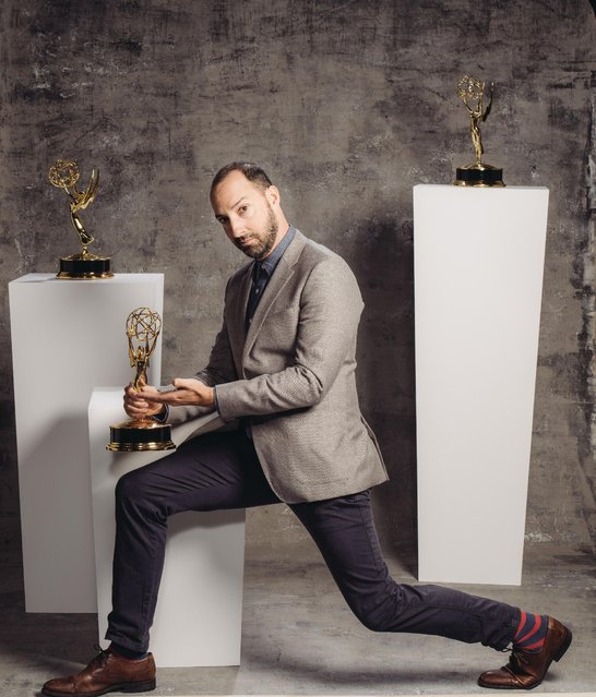 Tony Hale poses for a portrait at the Television Academy's 67th Emmy Awards Performers Nominee Reception at the Pacific Design Center on Saturday, September 19, 2015 in West Hollywood, Calif. (Photo by Casey Curry/Invision for the Television Academy/AP Images)