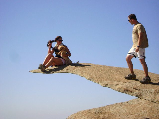 """Fellow hikers on Potato Chip Rock"". (Photo by Noel Ruiz)"