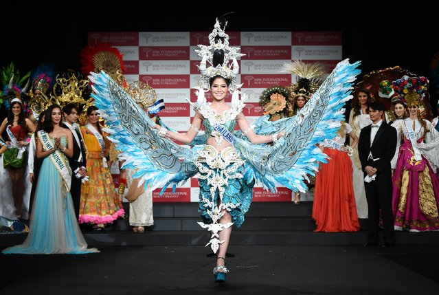 Miss Thailand Punika Kulsoontornrut parades during the national costume event for the Miss International beauty pageant in Tokyo on November 4, 2014. The 2014 Miss International beauty pageant, with 74 participants, will be held on November 11 in Tokyo. (Photo by Toru Yamanaka/AFP Photo)