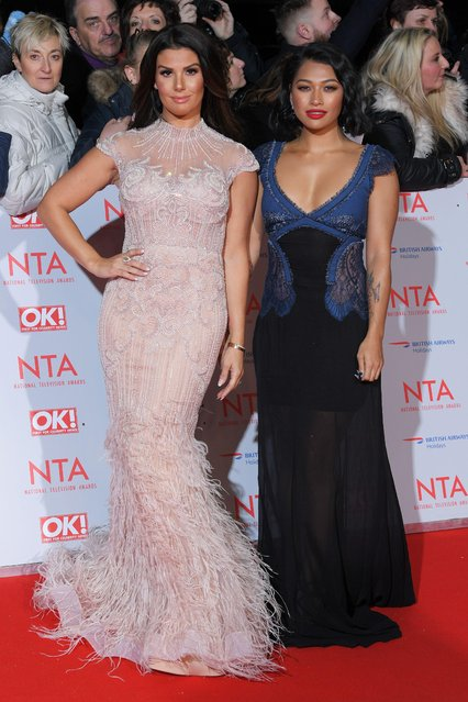Rebekah Vardy and Vanessa White attend the National Television Awards 2018 at the O2 Arena on January 23, 2018 in London, England. (Photo by David Fisher/Rex Features/Shutterstock)