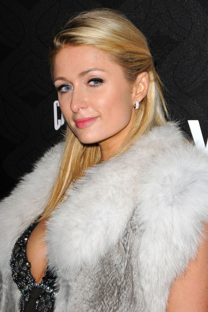 Paris Hilton arrives at the Cash Money Records 4th annual pre-GRAMMY Awards party on February 9, 2013 in West Hollywood, California. (Photo by WireImage)