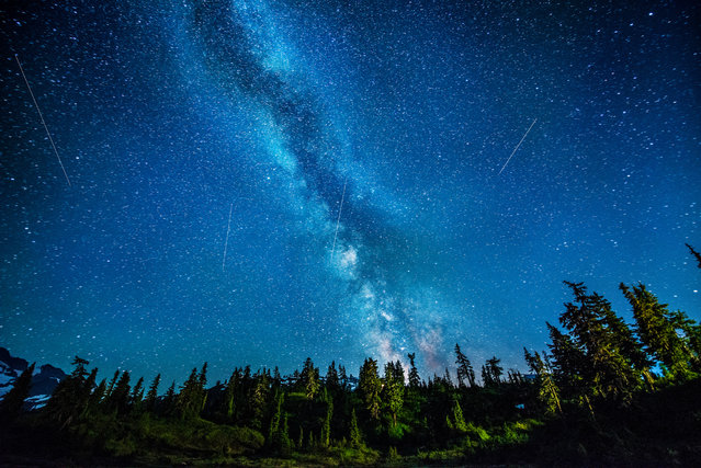 """Chasin' The Perseids"". (Photo and comment by Dave Morrow)"