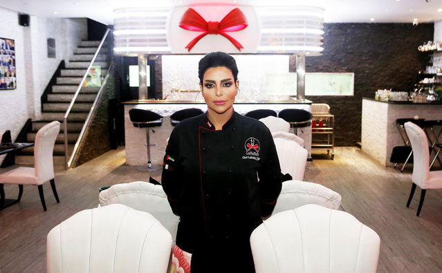 """Kuwaiti female chef, """"Chef Meshael"""", poses for a picture at her restaurant """"LaMeShO"""" in the town of Mahboula, about 30 kilometres south of the capital Kuwait City, on March 6, 2018. (Photo by Yasser al-Zayyat/AFP Photo)"""