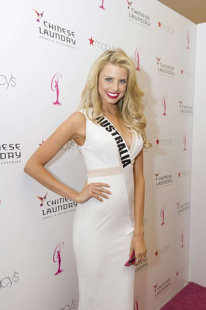 Miss Australia 2014 Tegan Martin poses for the Chinese Laundry shoes meet-and-greet at Macy's in Miami International Mall in this January 10, 2015 picture provided by the Miss Universe Organization. (Photo by Reuters/Miss Universe Organization)