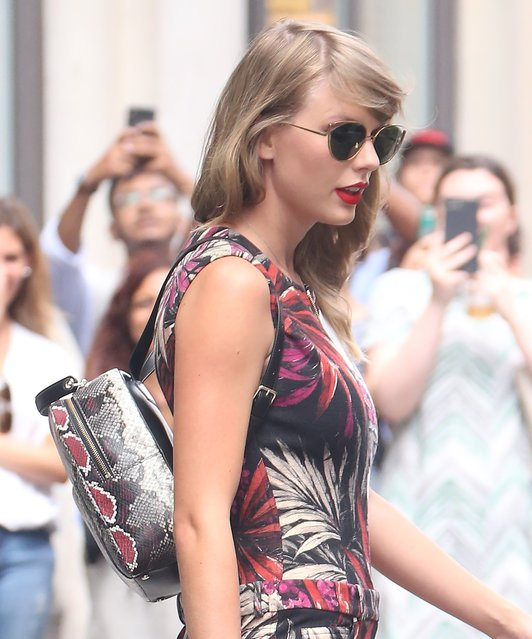 Taylor Swift spotted out and about in New York City on July 17, 2018. (Photo by Splash News and Pictures)