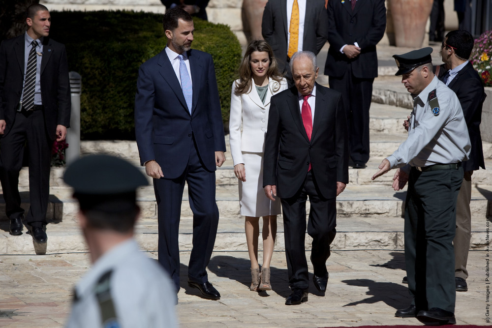 Prince Philippe And Princess Letizia of Spain's First Visit To Israel