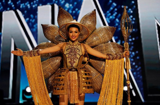 Miss Universe candidate from Vietnam Le Hang competes during a national costume preliminary competition in Pasay, Metro Manila, Philippines January 26, 2017. (Photo by Erik De Castro/Reuters)