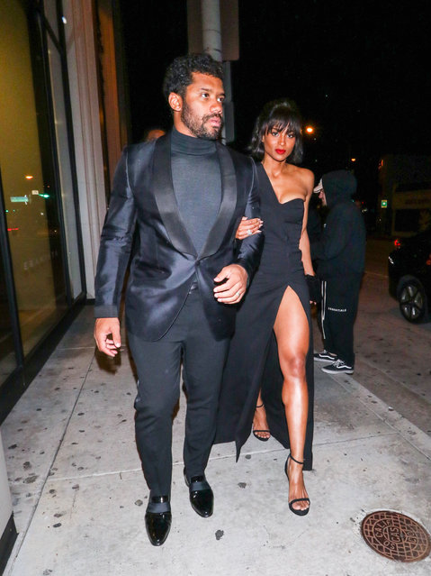 Russell Wilson and Ciara are seen on February 24, 2019 in Los Angeles, California. (Photo by gotpap/Bauer-Griffin/GC Images)