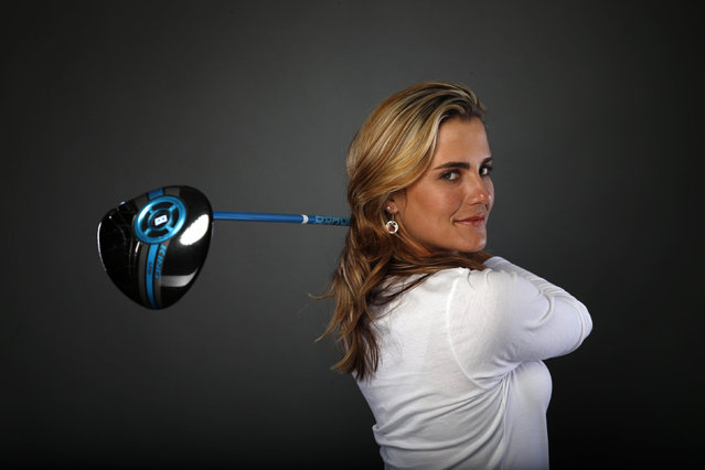Golfer Lexi Thompson poses for a portrait at the U.S. Olympic Committee Media Summit in Beverly Hills, Los Angeles, California March 7, 2016. Thompson said she likes to listen to hip hop and R&B before her rounds of golf, and hard rock in the gym. (Photo by Lucy Nicholson/Reuters)