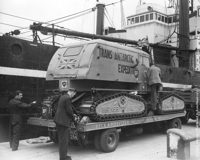 Haywire, one of the snowcats used by Dr. Fuch's and his Commonwealth explorers on their journey across the Antarctic continent