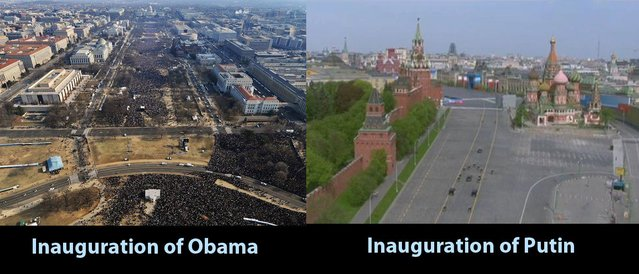 Inauguration of Obama vs. inauguration of Putin