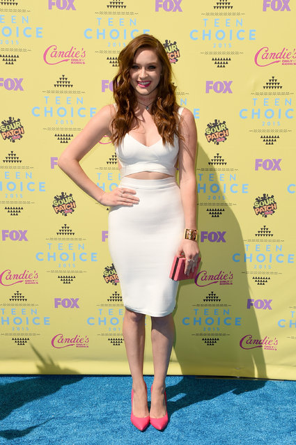 Actress Greer Grammer attends the Teen Choice Awards 2015 at the USC Galen Center on August 16, 2015 in Los Angeles, California. (Photo by Jason Merritt/Getty Images)
