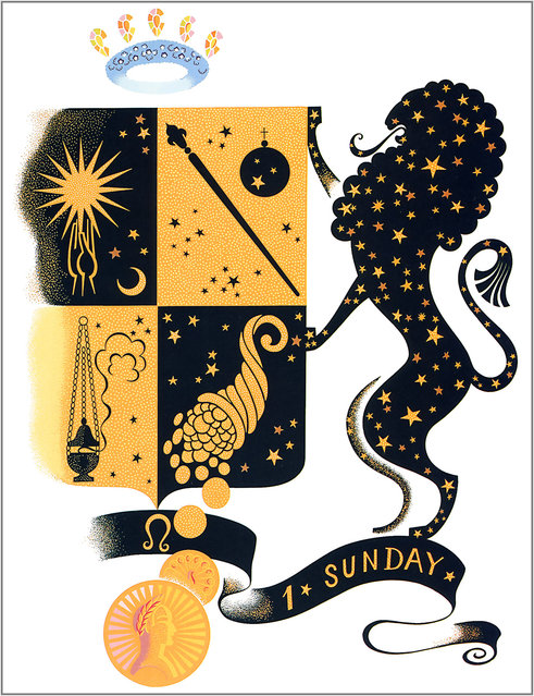 Romain de Tirtoff (Erte) – The Zodiac: Leo