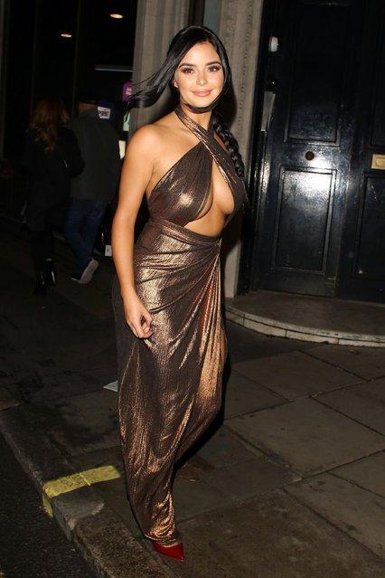 Demi Rose leaving Bob Bob Ricard on November 20, 2017 in London, England. (Photo by Mark R. Milan/GC Images)