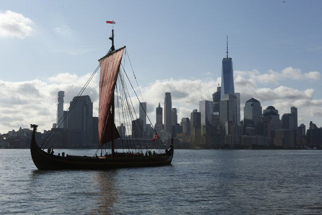 General atmosphere at The World's Largest Viking Ship, Draken Harald Harfagre Docks In NYC on September 17, 2016 in New York City. (Photo by Thos Robinson/Getty Images for Draken Harald Harfagre)