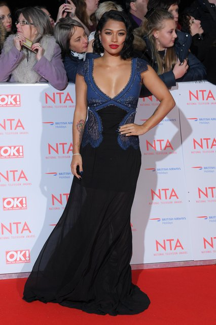 Vanessa White attends the National Television Awards 2018 at the O2 Arena on January 23, 2018 in London, England. (Photo by David Fisher/Rex Features/Shutterstock)