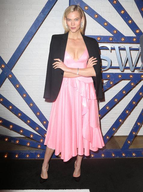 Swarovski brand ambassador Karlie Kloss attends Swarovskis Times Square Celebration at Hudson Mercantile, honoring the brands most recent store opening in New York City, on April 12, 2018. (Photo by Dara Kushner/INSTARimages.com)