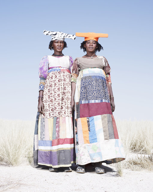 Herero Women in Patchwork Dresses, 2012. (Photo by Jim Naughten, courtesy of Klompching Gallery, New York)