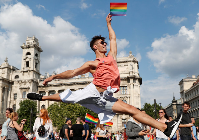 Participants take part in the annual Pride festival in Budapest, Hungary, July 7, 2018. (Photo by Bernadett Szabo/Reuters)