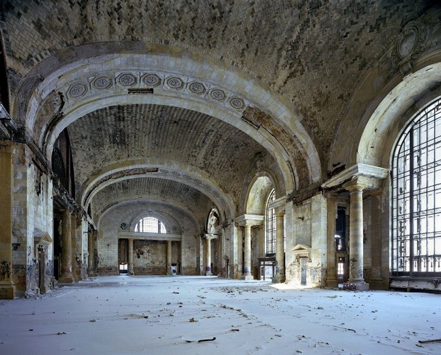 Waiting hall, Michigan Central Station. (Photo by Yves Marchand/Romain Meffre)