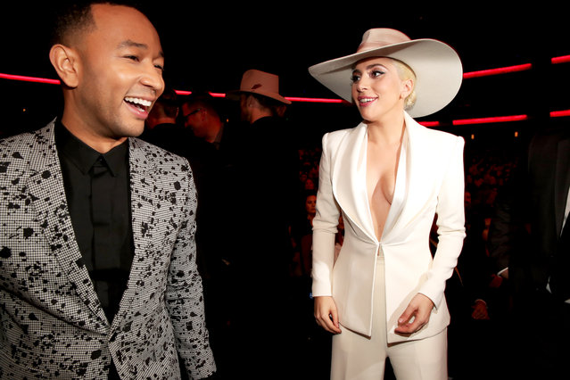 Singers John Legend (L) and Lady Gaga attend the 2016 American Music Awards  at Microsoft Theater on November 20, 2016 in Los Angeles, California. (Photo by Christopher Polk/AMA2016/Getty Images for dcp)