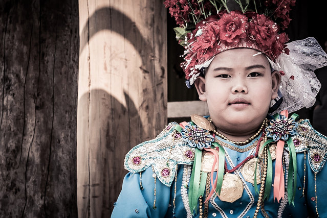 Boys between the ages 7 and 14 take part in the three day ceremony in Mae Hong Son, Thailand, April 2016. (Photo by Claudio Sieber/Barcroft Images)