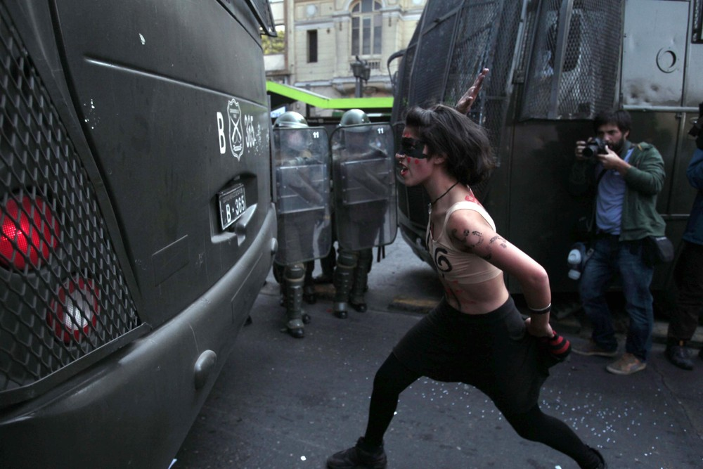 Mass Student Protest in Chile