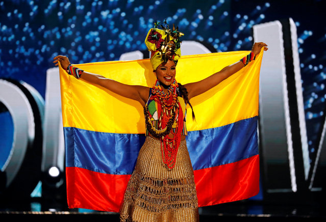 Miss Universe candidate from Colombia Andrea Tovar  competes during a national costume preliminary competition in Pasay, Metro Manila, Philippines January 26, 2017. (Photo by Erik De Castro/Reuters)