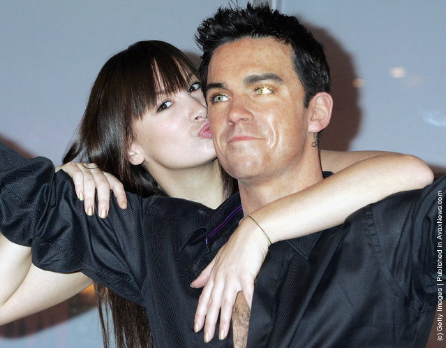 A waxwork model of pop star Robbie Williams
