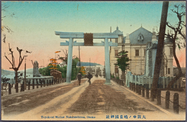 Toyokuni Shrine Nakanoshima, Osaka, Japan. (Photo by New York Public Library/Caters News)
